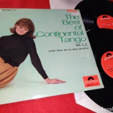 Discos de vinilo: ALFRED HAUSE TANGO ORCHESTRA THE BEST OF CONTINENTAL TANGO VOL.1+VOL.2 2LP POLYDOR JAPAN JAPON. Lote 219314681