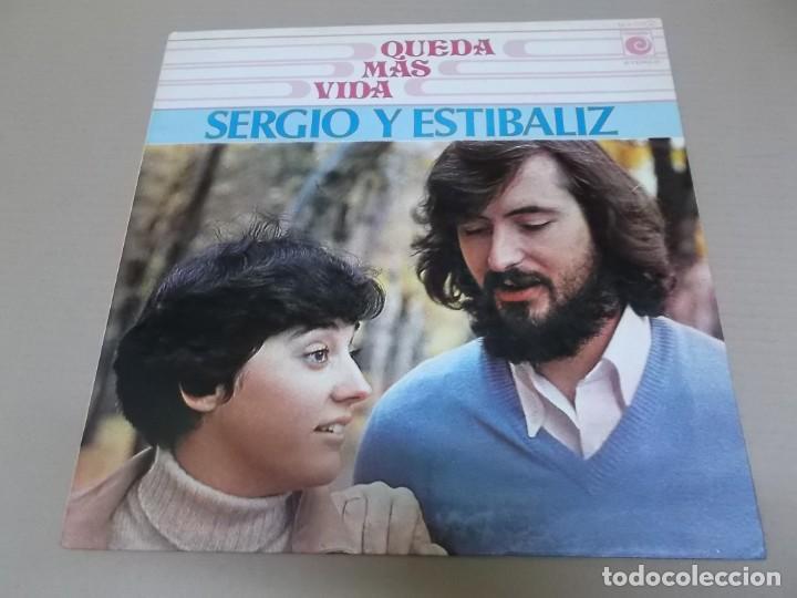SERGIO Y ESTIBALIZ (LP) QUEDA MAS VIDA AÑO 1976 - PORTADA ABIERTA (Música - Discos - LP Vinilo - Grupos Españoles de los 70 y 80)