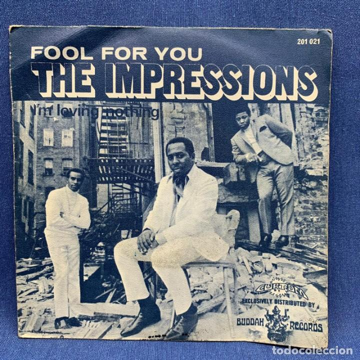 Discos de vinilo: SINGLE THE IMPRESSIONS - FOOL FOR YOU - ESPAÑA - AÑO 1968 - Foto 3 - 219321937