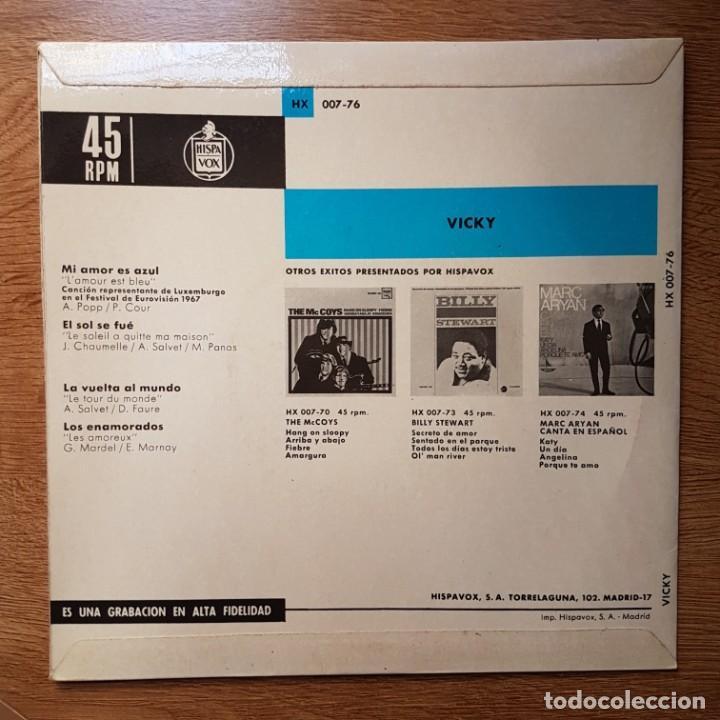 Discos de vinilo: DISCO EP VICKY. EUROVISIÓN 1967. MI AMOR ES AZUL. HISPAVOX - Foto 2 - 219324426