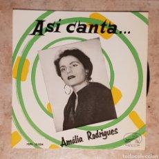 "Discos de vinilo: ASÍ CANTA AMALIA RODRIGUES 7"" E.P.. Lote 219329752"