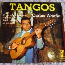 Discos de vinilo: CARLOS ACUÑA - EP - EL DÍA QUE ME QUIERAS + 3 - AÑO 1962 - BUEN ESTADO. Lote 219332152