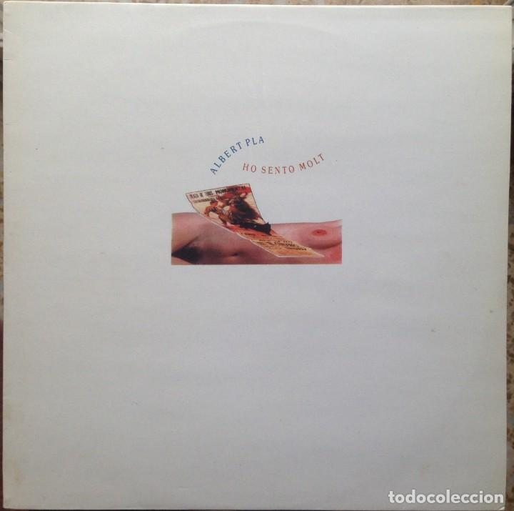 ALBERT PLA - HO SENTO MOLT - LP - PDI 1989 E-30.1991 - EDICIÓN ESPAÑOLA ORIGINAL. EX (Música - Discos - LP Vinilo - Cantautores Españoles)