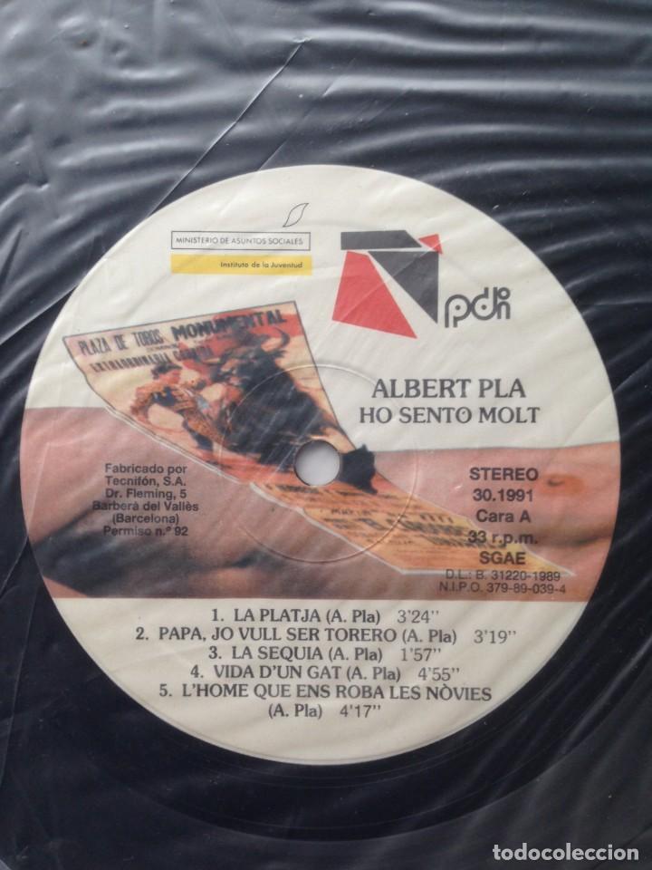 Discos de vinilo: Albert Pla - Ho sento molt - LP - PDI 1989 E-30.1991 - Edición española original. EX - Foto 5 - 219333526