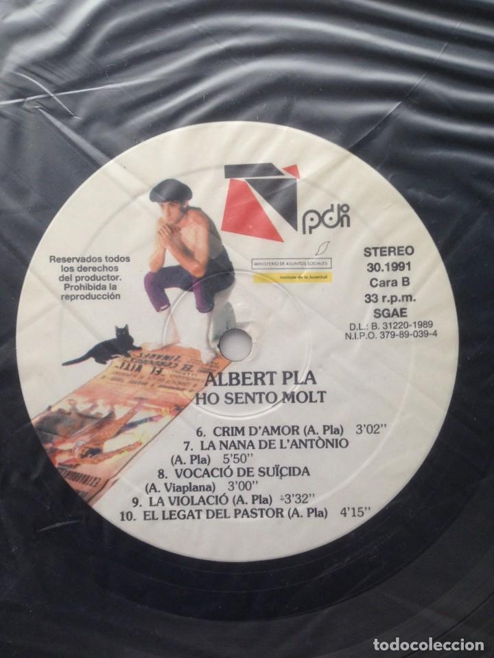 Discos de vinilo: Albert Pla - Ho sento molt - LP - PDI 1989 E-30.1991 - Edición española original. EX - Foto 6 - 219333526