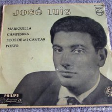 Discos de vinilo: JOSE LUIS - EP - MARIQUILLA + 3 - AÑO 1959 - VINILO AZUL. Lote 219334400