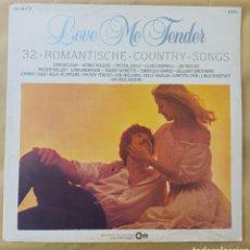 Discos de vinilo: DOBLE LP 32 CANCIONES ROMÁNTICAS-COUNTRY LOVD ME TENDER. Lote 219336508
