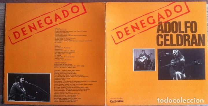 Discos de vinilo: Adolfo Celdrán - Denegado - LP - Movieplay/Gong 1977 - Edición española original. EX - Foto 4 - 219343873
