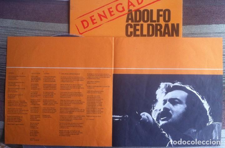 Discos de vinilo: Adolfo Celdrán - Denegado - LP - Movieplay/Gong 1977 - Edición española original. EX - Foto 6 - 219343873
