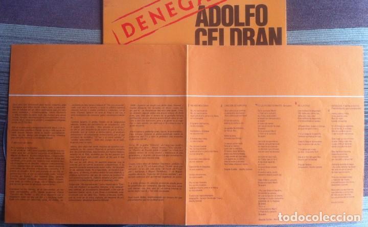 Discos de vinilo: Adolfo Celdrán - Denegado - LP - Movieplay/Gong 1977 - Edición española original. EX - Foto 7 - 219343873