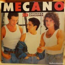 Discos de vinilo: MECANO 20 GRANDES CANCIONES - CARPETA ABIERTA 2 LP´S. Lote 219357433