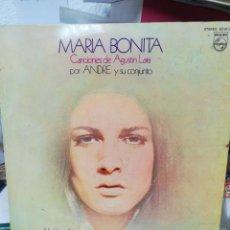 Discos de vinilo: MARÍA BONITA. CANCIONES DE AGUSTÍN LARA.. Lote 219360071