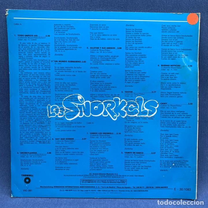 Discos de vinilo: LP - VINILO LOS SNORKELS - DE LA SERIE DE TVE - ESPAÑA - AÑO 1986 - Foto 3 - 219365991