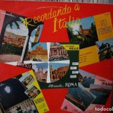 Discos de vinilo: RCORDANDO ITALIA CLAUDIO VILLA / MARTA TOMELLI / TULLIO PANE / ARNOLFO VALLI /. Lote 219378062