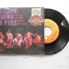 Discos de vinilo: EARTH, WIND & FIRE ?– GOT TO GET YOU INTO MY LIFE SINGLE 1978 VG+/VG. Lote 219385282