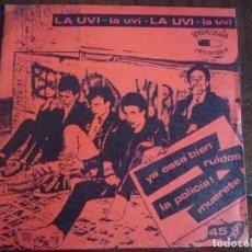 Discos de vinilo: LA UVI 'YA ESTÁ BIEN + 3' EP 1982. Lote 219399432