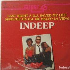 Discos de vinilo: INDEEP-SUPER 45. Lote 219406981