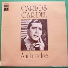 Discos de vinilo: CARLOS GARDEL: A MI MADRE - EMI ODEÓN - 1973 - VER REPERTORIO - MUY BUENO (VG+) / EXCELENTE (EX). Lote 219411253