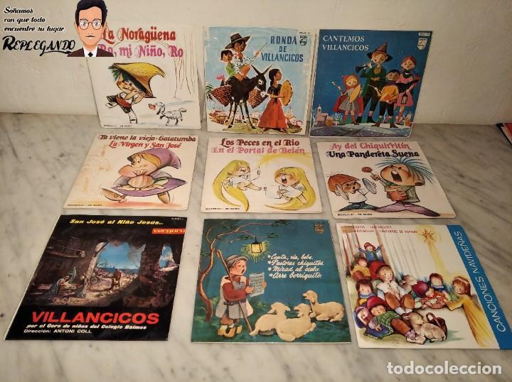 GRAN LOTE 27 DISCOS DE VINILO ( 20 VILLANCICOS + 4 CANCIONES INFANTILES + 3 CUENTOS) (Música - Discos de Vinilo - Maxi Singles - Música Infantil)