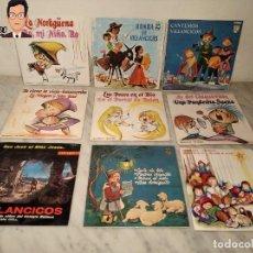 Discos de vinilo: GRAN LOTE 27 DISCOS DE VINILO ( 20 VILLANCICOS + 4 CANCIONES INFANTILES + 3 CUENTOS). Lote 219418147