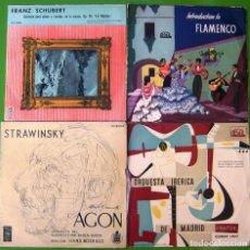 Discos de vinilo: LOTE DE 4 DISCOS DE 10 PULGADAS (SCHUBERT, STRAVINSKY, INTRODUCTION TO FLAMENCO, ORQUESTA IBÉRICA). Lote 219422813