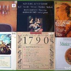 Discos de vinilo: LOTE DE 6 LP MUSICA CLASICA (MUSICA Y SENTIMIENTO, RAMPAL, FLAUTA, RUBINSTEIN, CHOPIN,OBRAS MAESTRAS. Lote 219424347