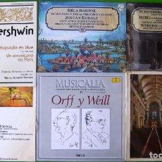 Discos de vinilo: LOTE DE 7 LP (GERSHWIN, BARTOCK, KODALY, ORFF, WEILL, BERLIOZ, SCHONBERG, BERG, WEBERN...). Lote 219425571