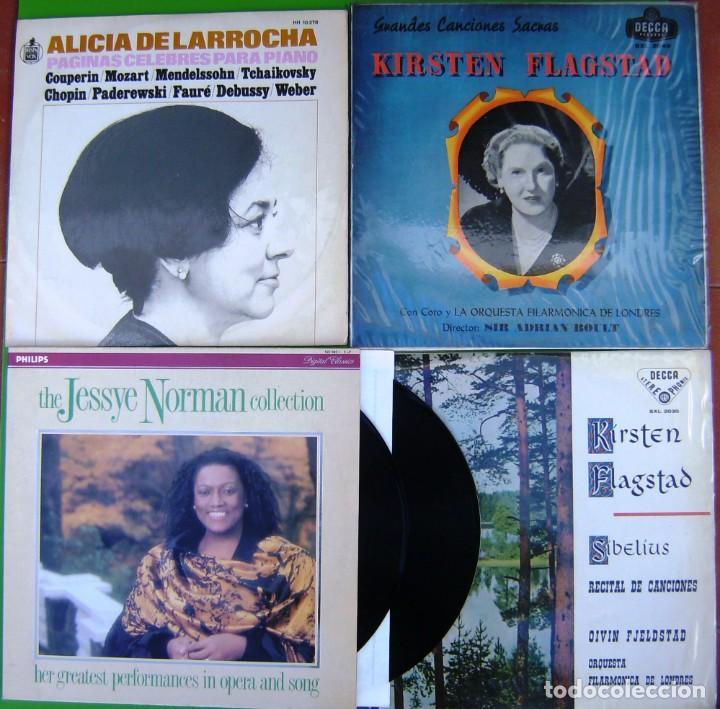 LOTE 5 LP (ALICIA LARROCHA - JESSYE NORMAN - KIRSTEN FLAGSTAD) (Música - Discos - LP Vinilo - Orquestas)
