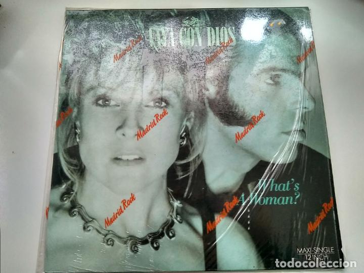 MAXI SINGLE - VAYA CON DIOS. WHAT'S A WOMAN?. BMG 1988. PERFECTO ESTADO. (Música - Discos de Vinilo - Maxi Singles - Pop - Rock - New Wave Extranjero de los 80)