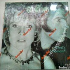 Discos de vinilo: MAXI SINGLE - VAYA CON DIOS. WHAT'S A WOMAN?. BMG 1988. PERFECTO ESTADO.. Lote 219426421