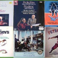 Discos de vinilo: LOTE 6 LP (PROKOFIEV, STRAVINSKY, BRITTEN, POULENC, BIZET). Lote 219427615