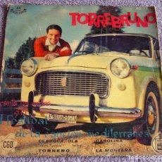 Disques de vinyle: TORREBRUNO - I FESTIVAL DE LA CANCIÓN MEDITERRÁNEA - EP - OLA, OLA, OLA + 3 - AÑO 1959. Lote 219431522