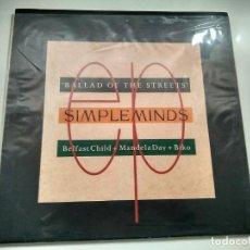 Discos de vinilo: MAXI SINGLE SIMPLE MINDS - BALLAD OF THE STREETS. VIRGIN 1989. PERFECTO ESTADO.. Lote 219433233