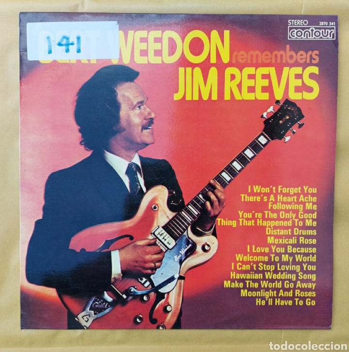 LP BERT WEEDON - REMEMBER JIM REEVES - 1973 - EDIC. ITALIANA (Música - Discos - LP Vinilo - Country y Folk)