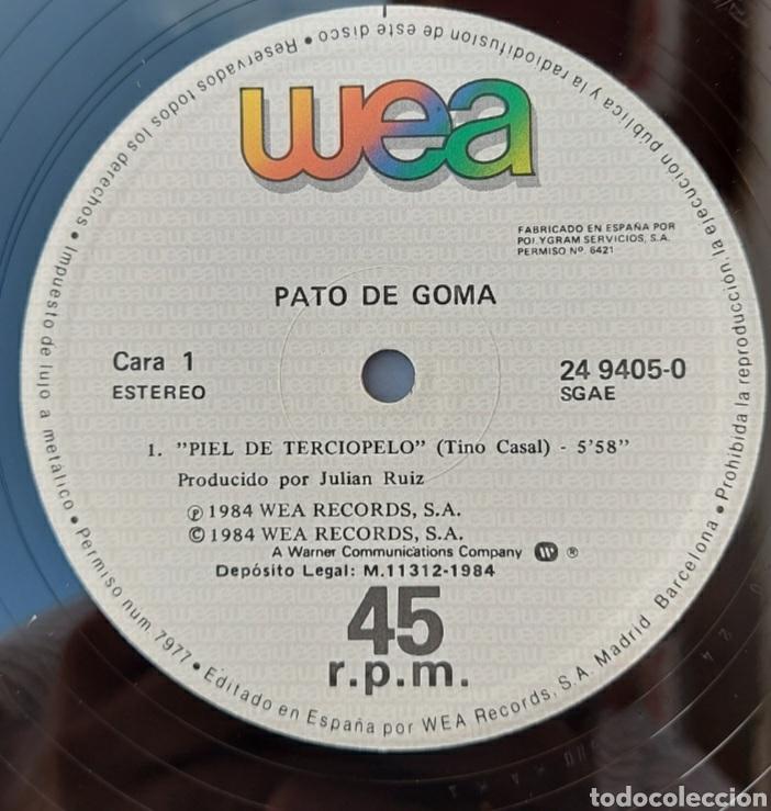 Discos de vinilo: Maxi single Pato de goma - piel de terciopelo- 1984 - Foto 3 - 219442820