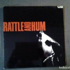 Discos de vinilo: U2 -RATTLE AND HUM-DOBLE LP ISLAND RECORDS 1988 ED. ESPAÑOLA GATEFOLD SLEEVE 5I 303400 MUY BUENAS CO. Lote 219474488