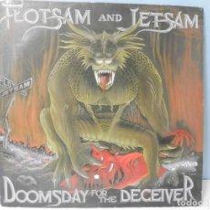 Discos de vinilo: DISCO VINILO FLOTSAM AND JETSAM - DOOMSDAY FORM THE DECEIVER. Lote 219477787