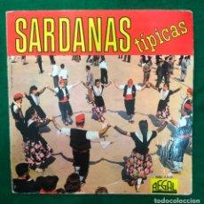 Discos de vinilo: COBLA LA PRINCIPAL DE LA BISBAL - SARDANAS TÍPICAS - EP REGAL DE 1962 RF-4576 , PORTADA TROQUELADA. Lote 219483815
