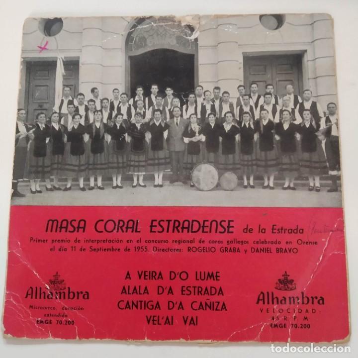 MASA CORAL ESTRADENSE DE LA ESTRADA EP GALICIA GALIZA (Música - Discos de Vinilo - EPs - Country y Folk)