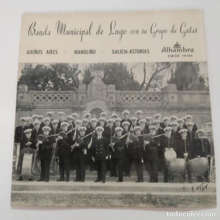 BANDA MUNICIPAL DE LUGO CON SU GRUPO DE GAITAS - AIRIÑOS AIRES EP GALICIA GALIZA (Música - Discos de Vinilo - EPs - Country y Folk)