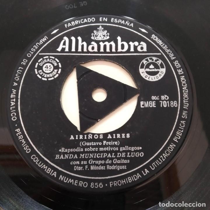Discos de vinilo: Banda Municipal De Lugo Con Su Grupo De Gaitas - Airiños Aires EP Galicia Galiza - Foto 3 - 219486593