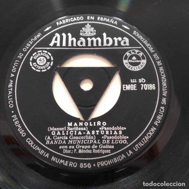Discos de vinilo: Banda Municipal De Lugo Con Su Grupo De Gaitas - Airiños Aires EP Galicia Galiza - Foto 4 - 219486593
