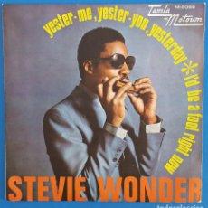 Discos de vinilo: SINGLE / STEVE WONDER, YESTER-ME, YESTER-YOU, YESTERDAY, TAMLA MOTOWN M-5069, 1969. Lote 219490092
