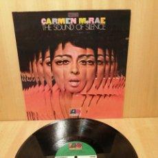 Disques de vinyle: CARMEN MCRAE. THE SOUND OF SILENCE. EDICIÓN USA.. Lote 219495036