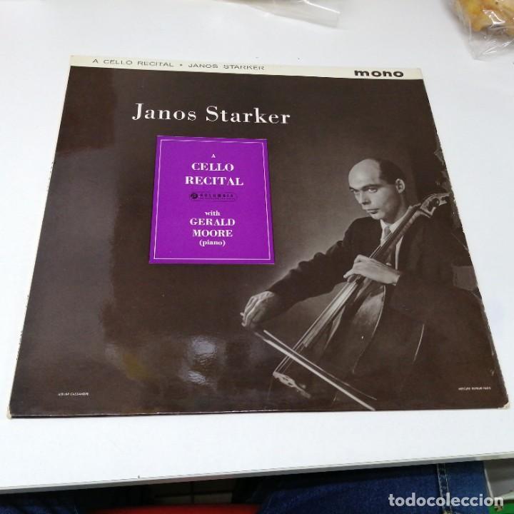 DISCO DE MUSICA LP JANOS STARKER A CELLO RECITAL WITH GERALD MOORE PIANO (Música - Discos - LP Vinilo - Otros estilos)