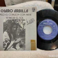 Discos de vinilo: CHARO ARBILLA/ TENGO EL CORAZÓN CON NIEVE. Lote 219521118