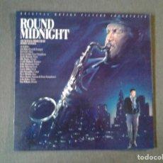 Discos de vinilo: ROUND MIDNIGHT -ORIGINAL MOTION PICTURE SOUNDTRACK- LP CBS 1986 ED. ESPAÑOLA S 70300 MUY BUENAS CON. Lote 219524673