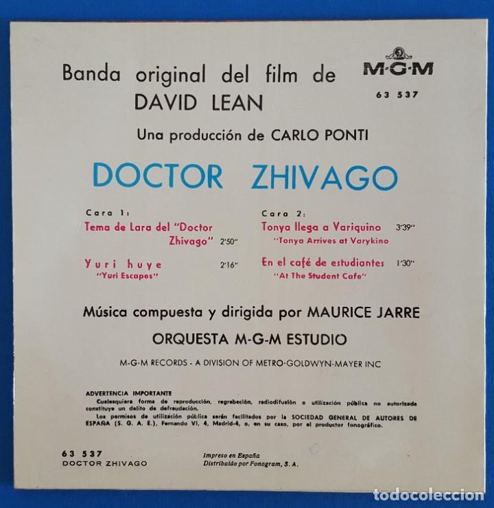 Discos de vinilo: EP / TEMA DE LARA BANDA ORIGINAL DE LA PELICULA DOCTOR ZHIVAGO, - Foto 2 - 219528458