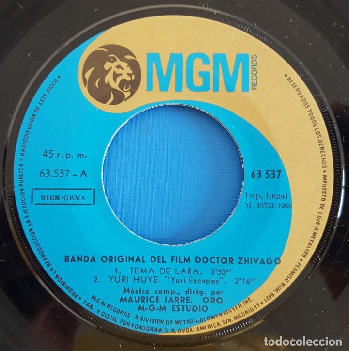 Discos de vinilo: EP / TEMA DE LARA BANDA ORIGINAL DE LA PELICULA DOCTOR ZHIVAGO, - Foto 3 - 219528458