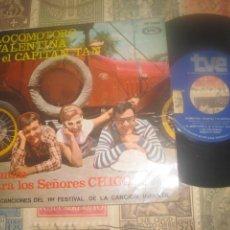 Discos de vinilo: LOCOMOTORO, VALENTINA Y EL CAPITAN TAN - EL BURRO( MOVIEPLAY 1967) OG ESPAÑA. Lote 219528618